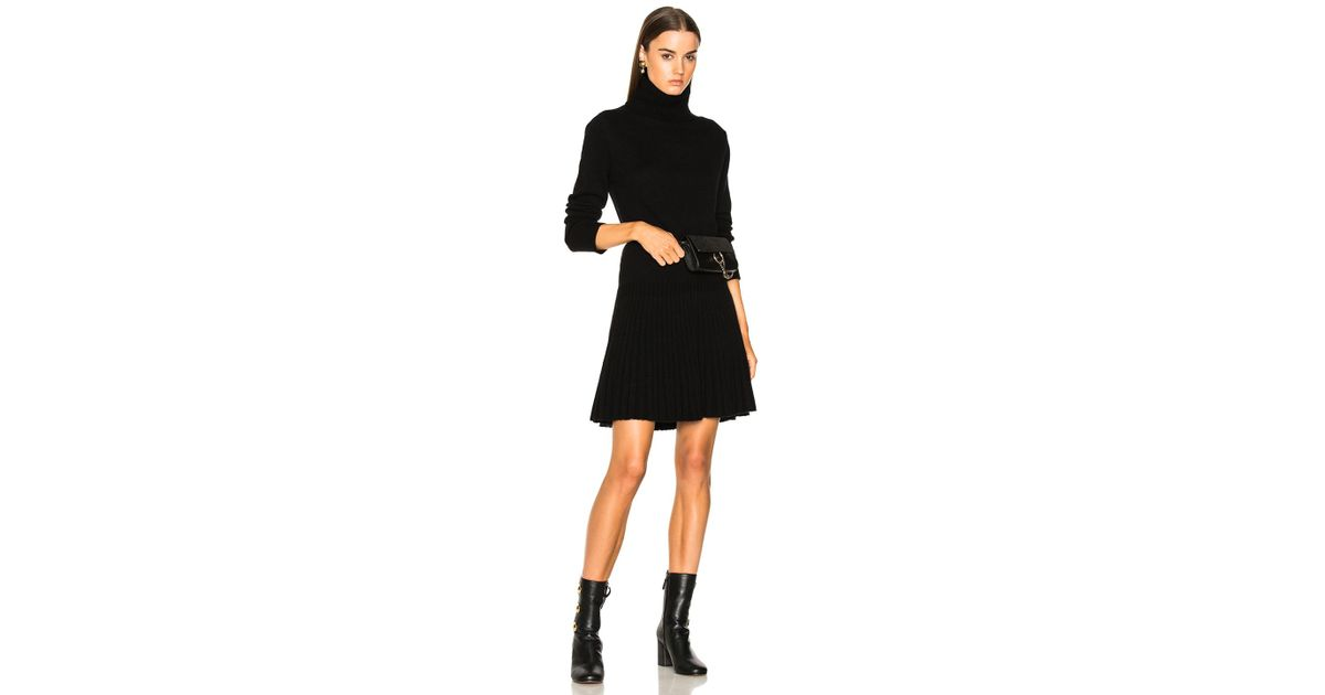 8df39d72099 Lyst - Chloé Iconic Cashmere Turtleneck Sweater Dress in Black