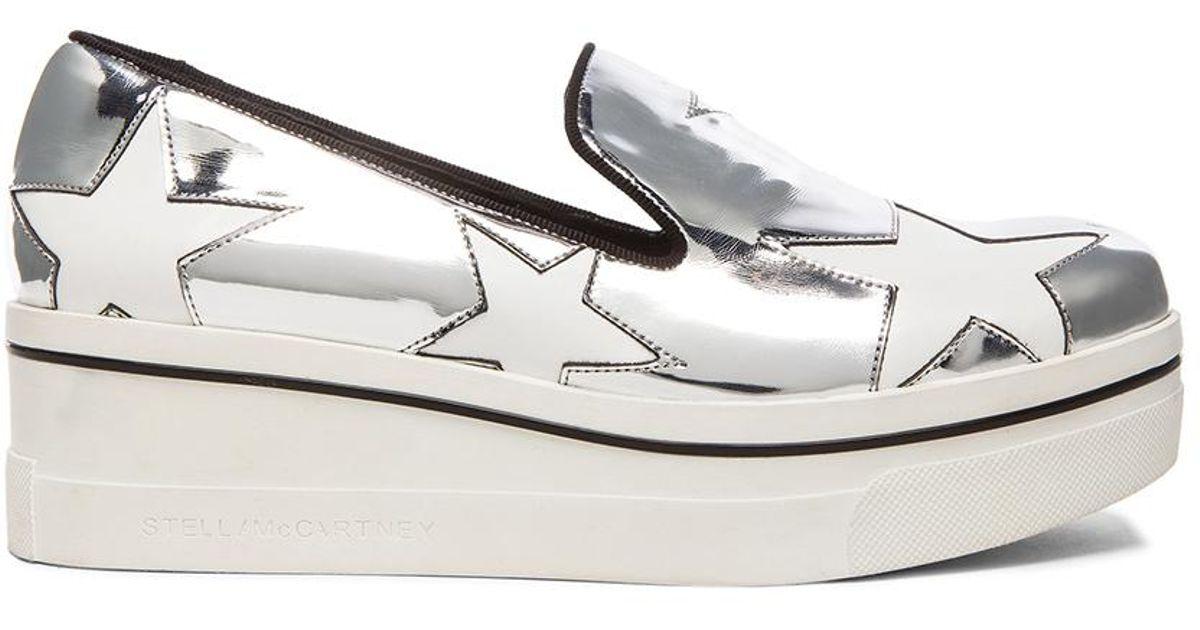 7e308605824a Lyst - Stella McCartney Binx Star Platform Shoes in White
