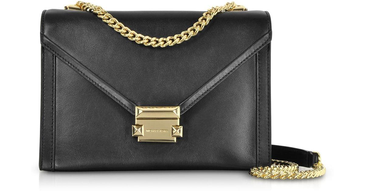 d1de0c6d8012ef Michael Kors Whitney Large Leather Convertible Shoulder Bag in Black - Lyst