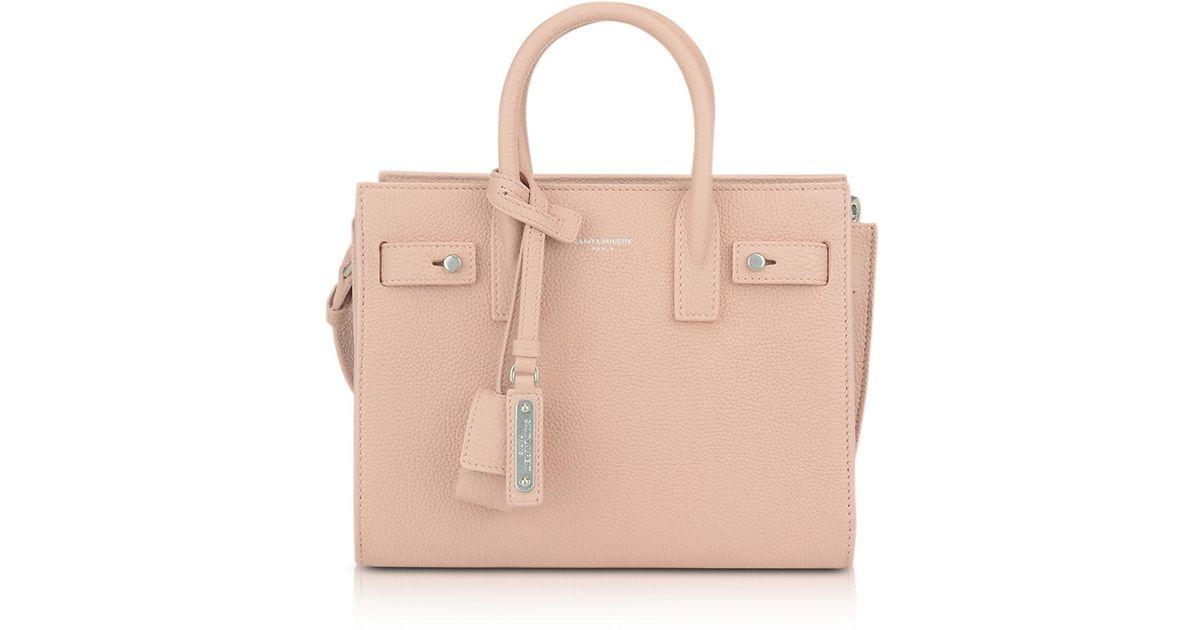 51403298623e Saint Laurent Classic Pale Pink Leather Nano Sac De Jour in Pink - Lyst