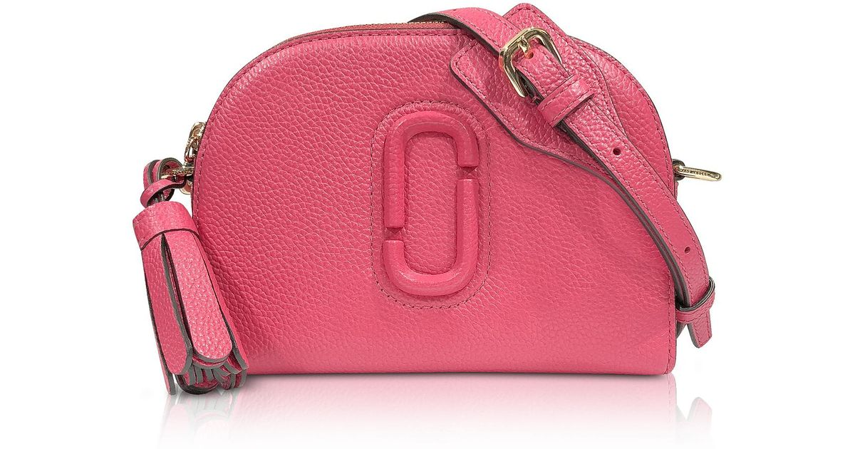 e79699798ffa Lyst - Marc Jacobs Shutter Peony Leather Small Camera Bag in Pink