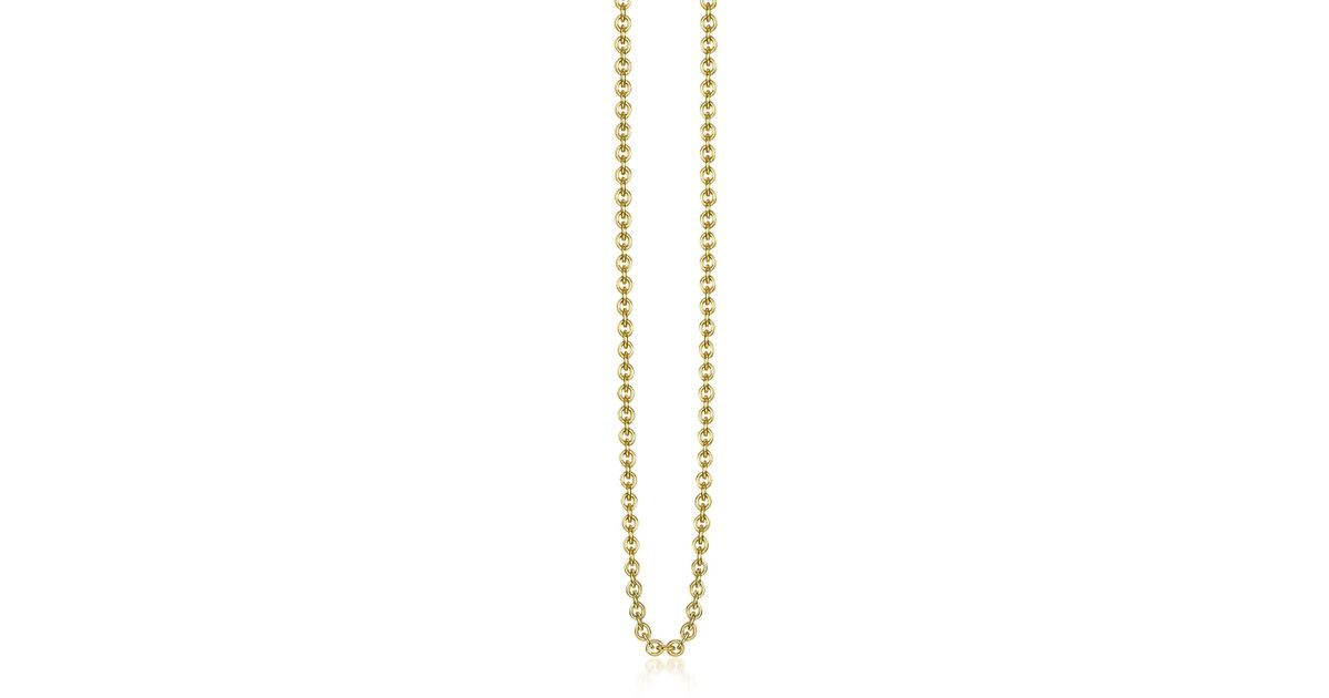 Lyst thomas sabo gold plated sterling silver anchor chain necklace lyst thomas sabo gold plated sterling silver anchor chain necklace in metallic aloadofball Images