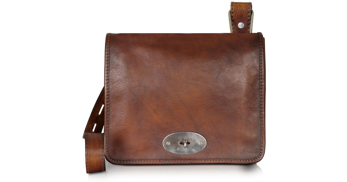 b091370dfe0e Pratesi Genuine Leather Crossbody Bag in Brown for Men - Lyst