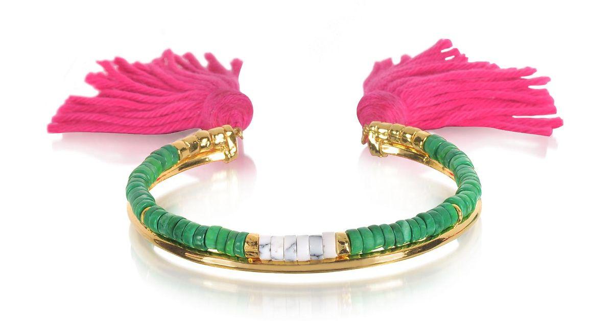 Copacabana Bracelet in Geranium 18K Gold-Plated Brass Aur meY1iex
