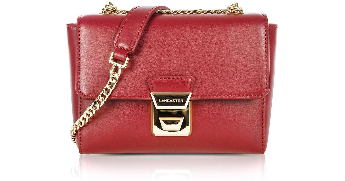 72620c468448 Lyst - Lancaster Paris Gena Or Leather Small Crossbody Bag in Red
