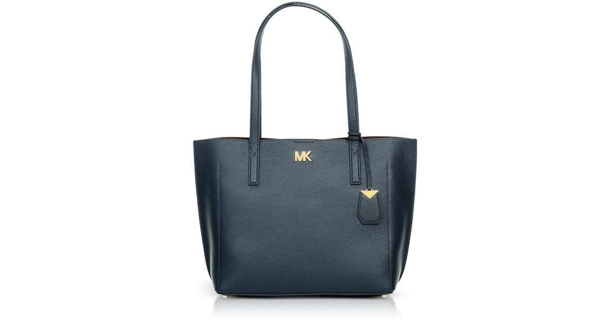 f380cc8d431b Michael Kors Pebbled Leather Ana Medium Ew Bonded Tote Bag in Blue - Lyst