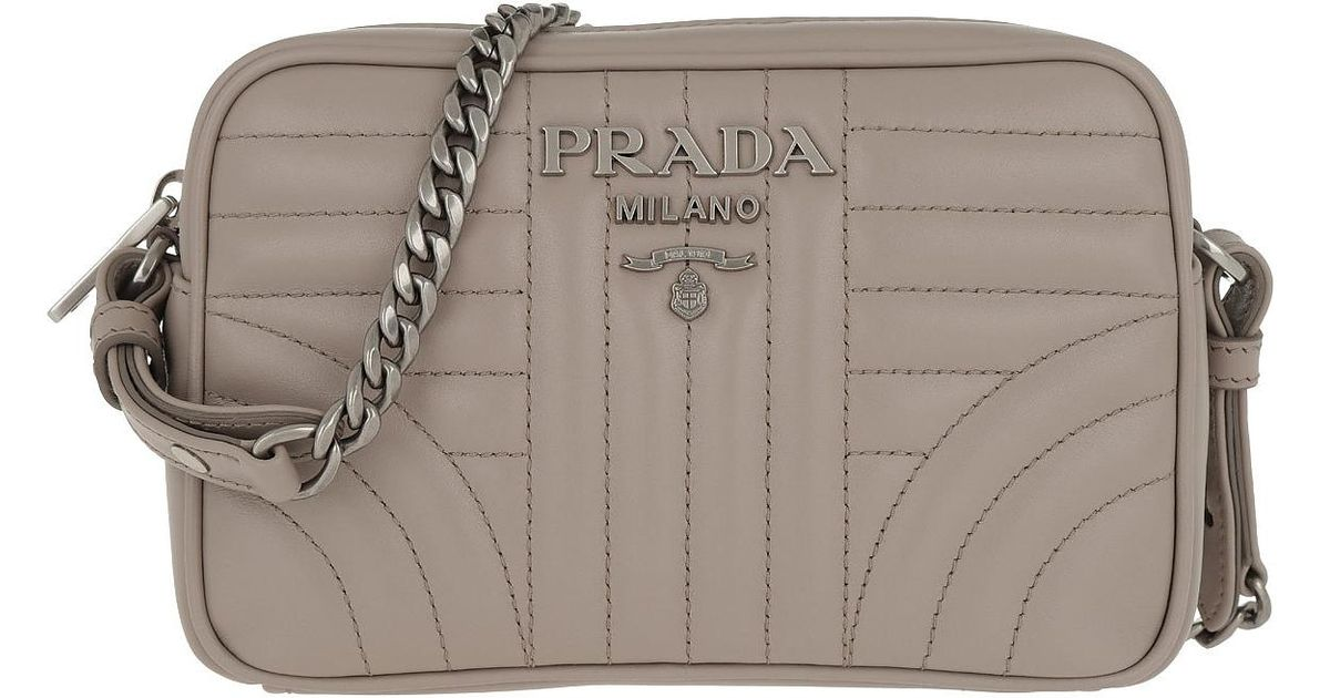 3e103012b Prada Diagramme Crossbody Bag Leather Pomice 2 in Pink - Lyst
