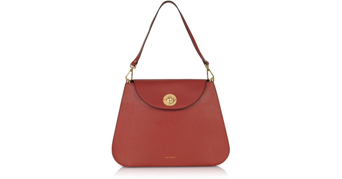 c2eb7dca3c83e3 Coccinelle Jalouse Leather Shoulder Bag in Red - Lyst