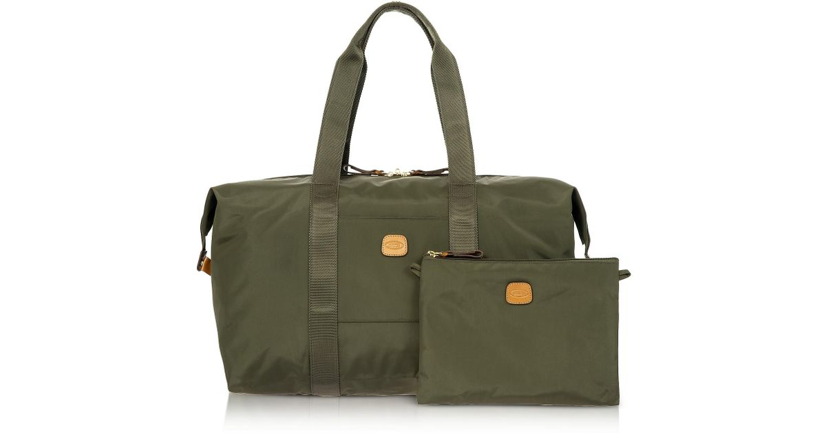 431db8347179 Bric s X-bag Medium Foldable Last-minute Holdall In A Pouch in Green for  Men - Save 10% - Lyst