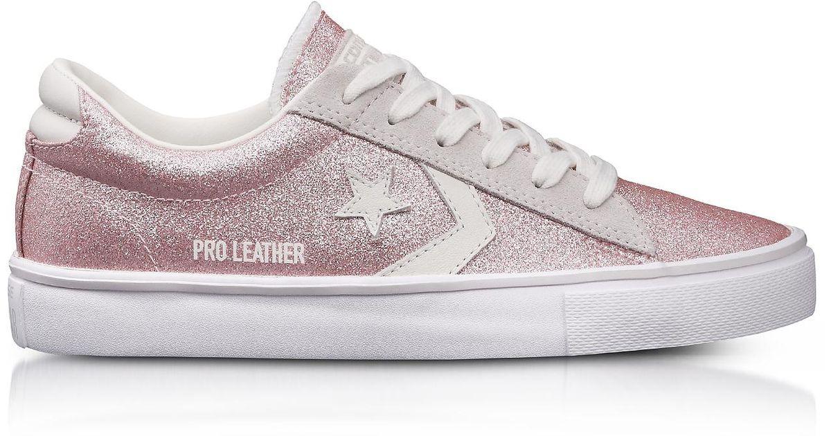 converse pro leather vulc glitter