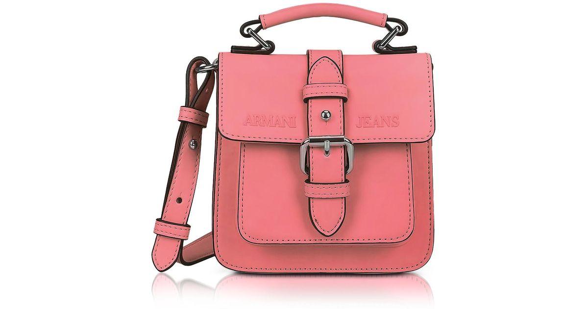 Lyst - Petit Sac à Bandoulière en Éco Cuir Rose Armani Jeans en coloris Rose 7c797f756f1