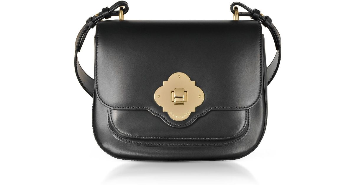 8c00f2cf582 Lyst - Emporio Armani Black Flap Top Shoulder Bag in Black