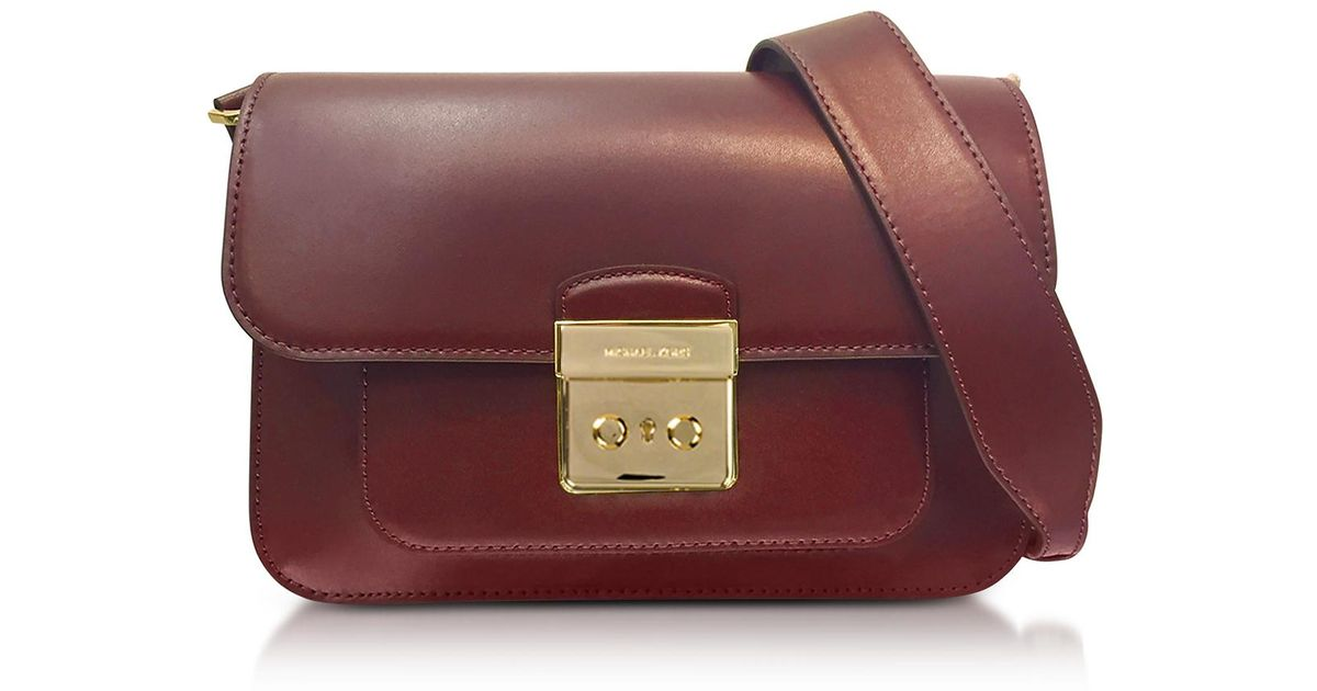 b29adb40c5 ... reduced lyst michael kors sloan editor large mulberry leather shoulder  bag in purple 236a7 5e012