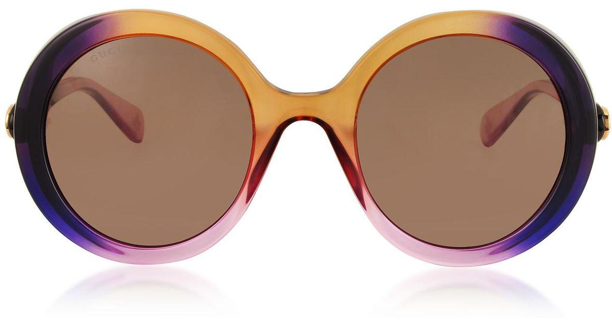 b396fb7649d Gucci GG0367S Round-frame Acetate Sunglasses in Purple - Lyst