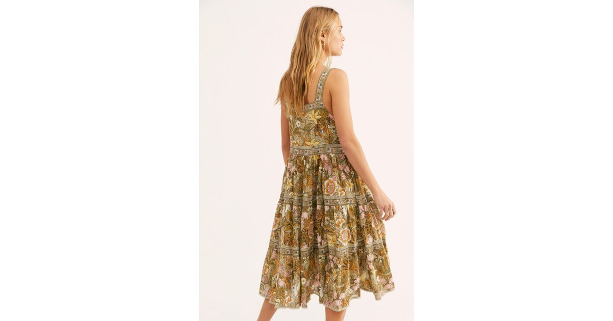 4d0958c5040 Free People Jungle Midi Sundress By Spell And The Gypsy Collective in Green  - Lyst