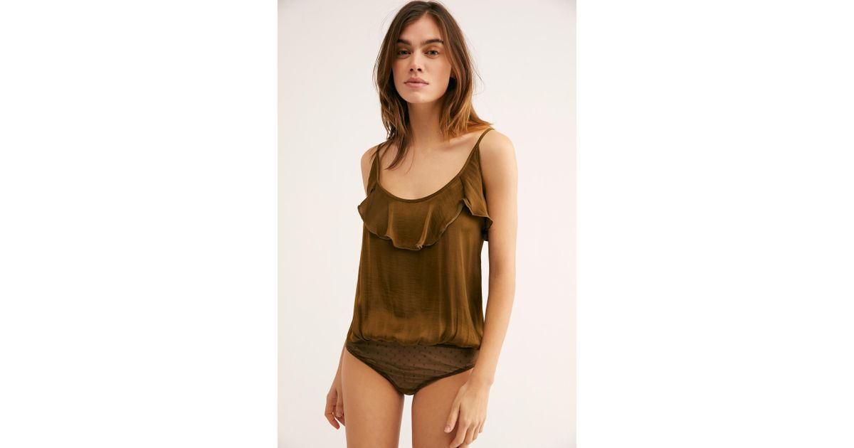 cbd1bb9af1 Free People Not Tired Bodysuit By Intimately - Lyst