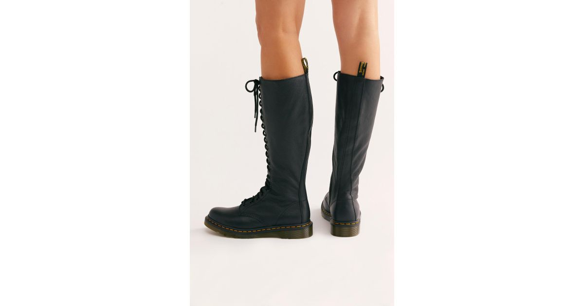 0af3afc2fe1 Free People 1860 20-eye Boot By Dr. Martens in Black - Lyst