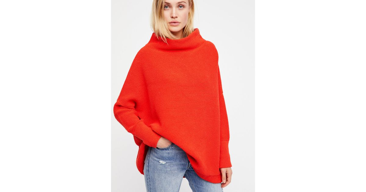 Lyst Free People Ottoman Slouchy Tunic In Red
