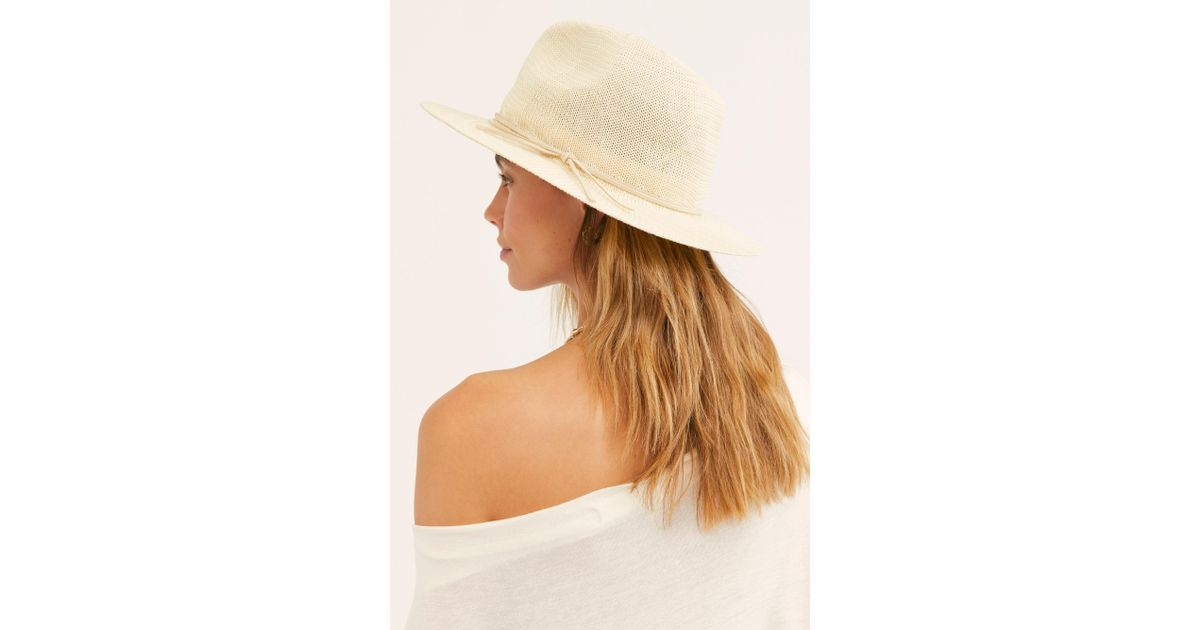 077527d7 Free People Perrie Woven Hat in White - Lyst
