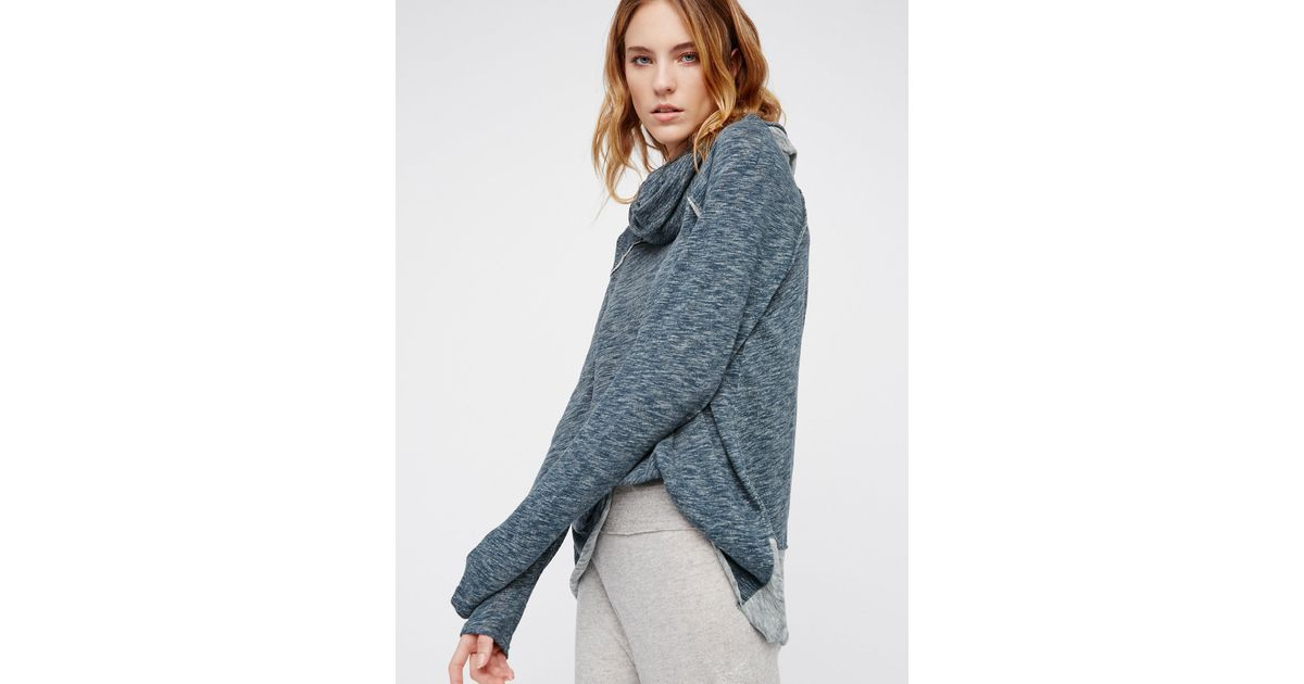 Free people Cocoon Pullover in Blue | Lyst