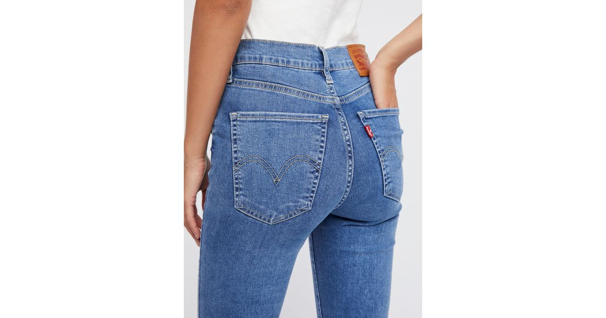 4e6ad5eb Free People Levi's Mile High Super Skinny Jeans in Blue - Lyst