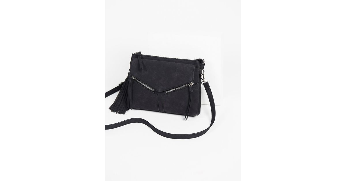 fc54a404f2d7 Lyst - Free People Leanna Vegan Crossbody in Black