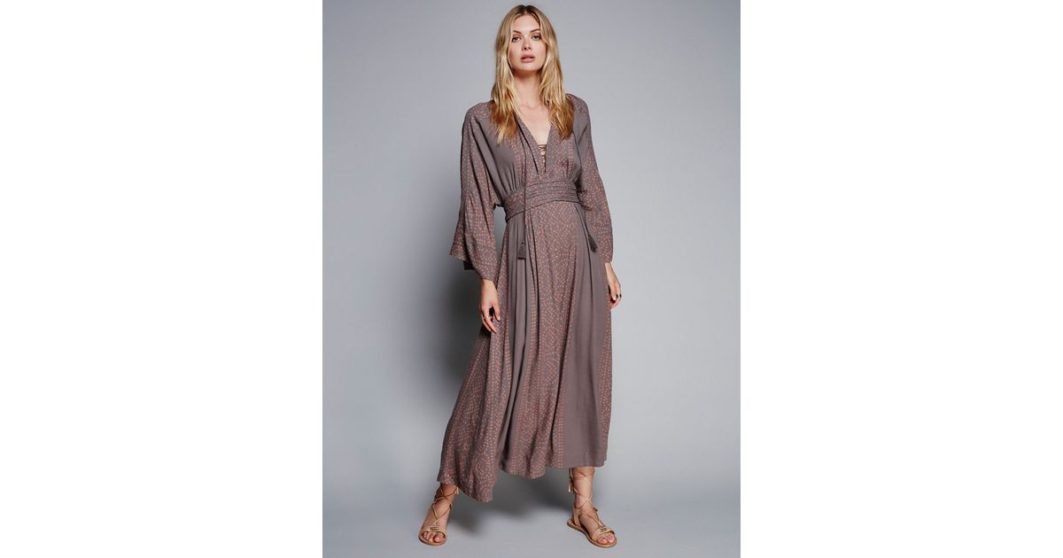 033f14081d21c Free People - Gray Modern Kimono Dress - Lyst