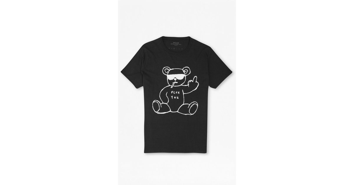 d332e5f11e81a Lyst - French Connection Rude Bear Graphic T-shirt in Black for Men