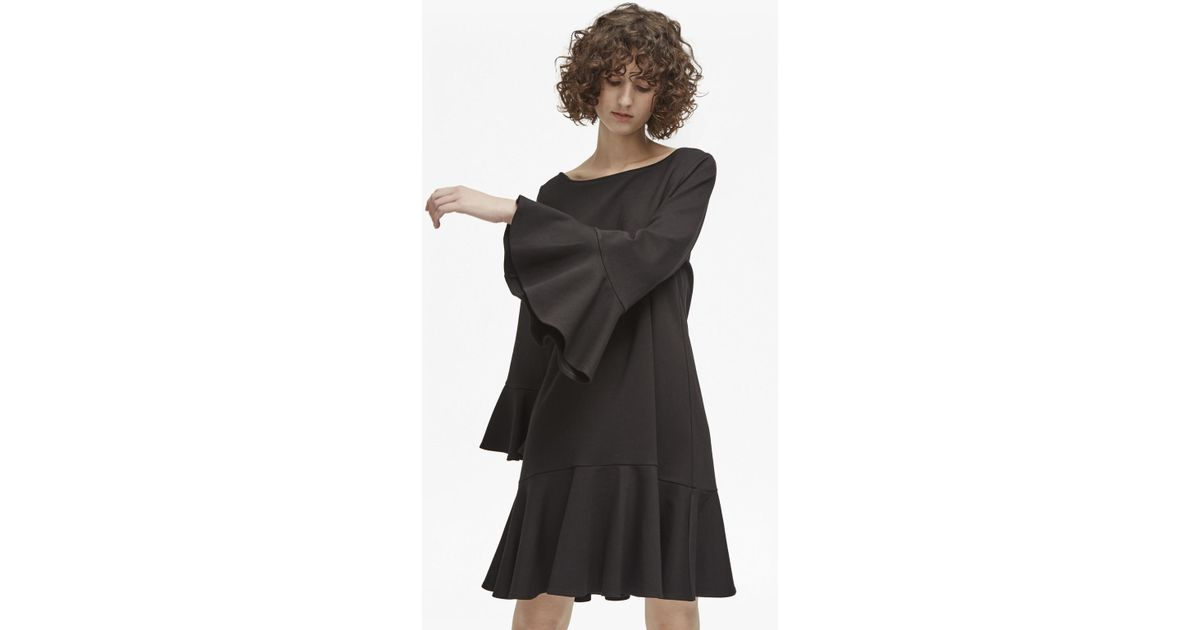 c89b4a1eccc French Connection Matuku Lula Bell Sleeve Dress in Black - Lyst