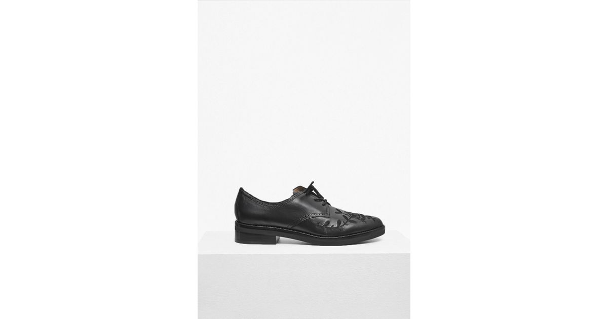b062098256 French Connection Maci Embroidered Leather Brogues in Black for Men - Lyst
