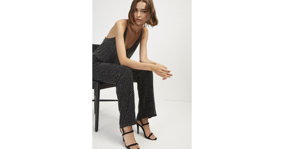 10d96755aee7 Lyst - French Connection Clara Embellished Strappy Jumpsuit in Black