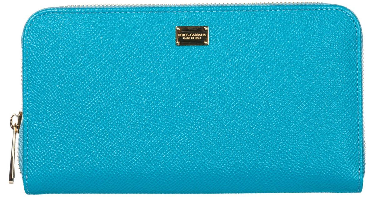 b35074f9d Lyst - Dolce & Gabbana Wallet Genuine Leather Coin Case Holder Purse Card  in Blue