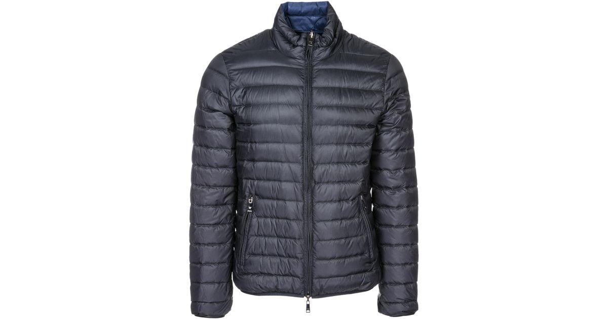 big sale 8592c 6ffc9 Emporio Armani - Black Piumino Outerwear Jacket Blouson Double Face for Men  - Lyst