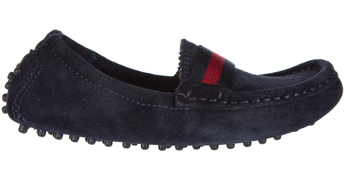007f7651ac81 Lyst - Gucci Boys Shoes Baby Child Loafers Moccassins Suede Leather in Blue  for Men