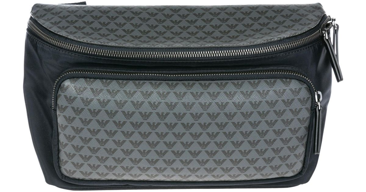 33116be801ed Emporio Armani Belt Bum Bag Hip Pouch in Black for Men - Lyst