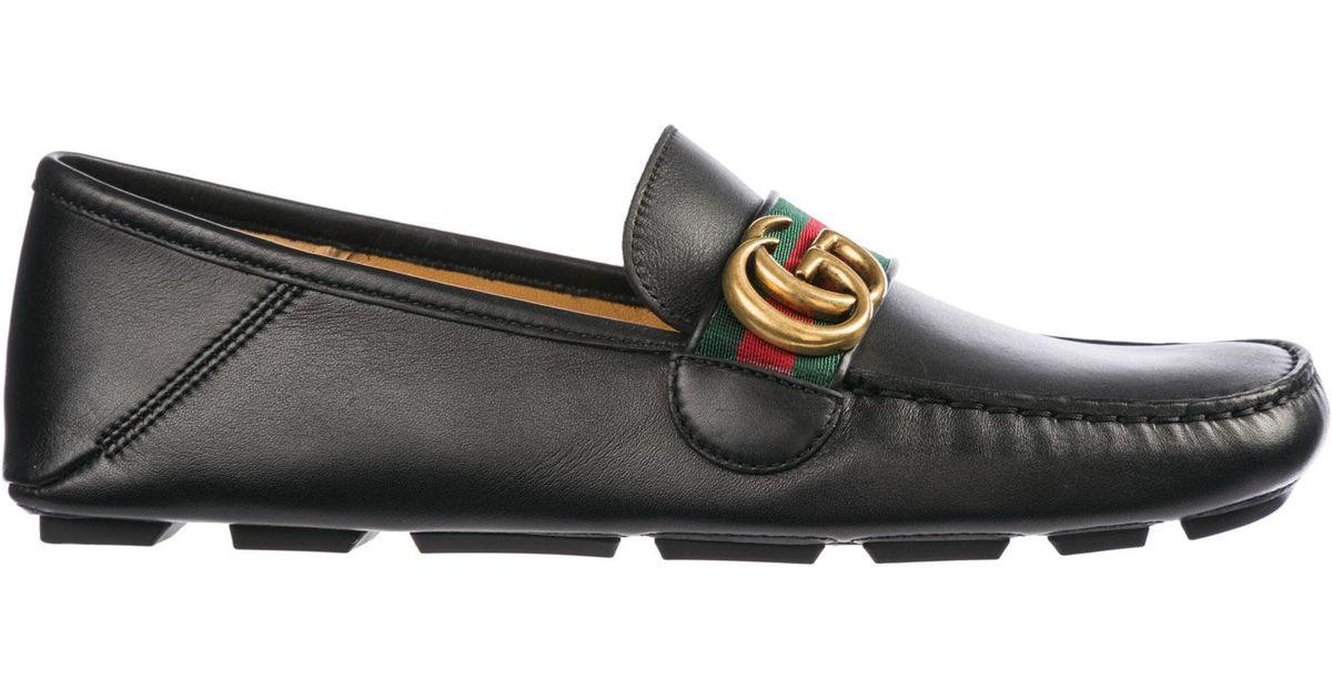 53315fb208 Gucci Mocassini Uomo In Pelle in Black for Men - Lyst