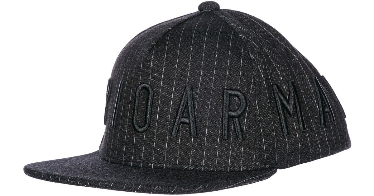 aad1aa27a3e Lyst - Emporio Armani Logo Striped Cap in Black for Men - Save  46.73913043478261%