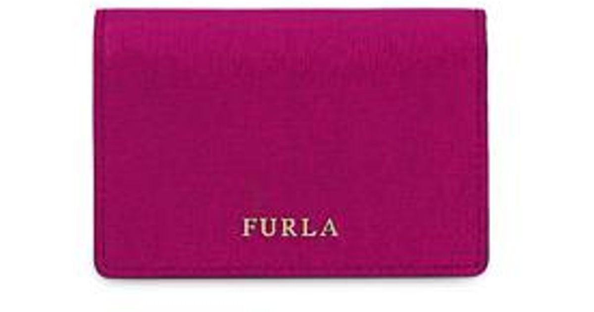 Furla Business Card Case S Amarena B in Purple - Lyst