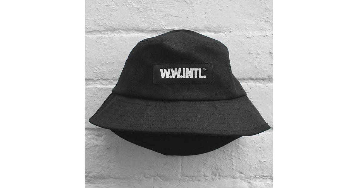 Wood Wood Bucket Hat in Black for Men - Lyst 37402836f3fd