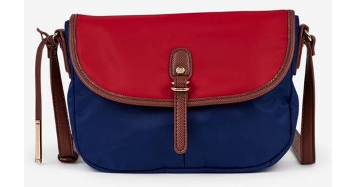 3b3e0e6717 Sac besace Cil toile enduite Galeries Lafayette en coloris Bleu - Lyst