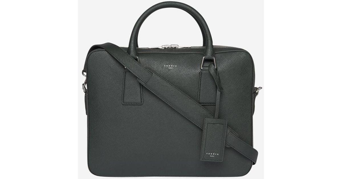fc046ce7f0 Sac porte-documents en cuir Saffiano Sandro pour homme en coloris Black