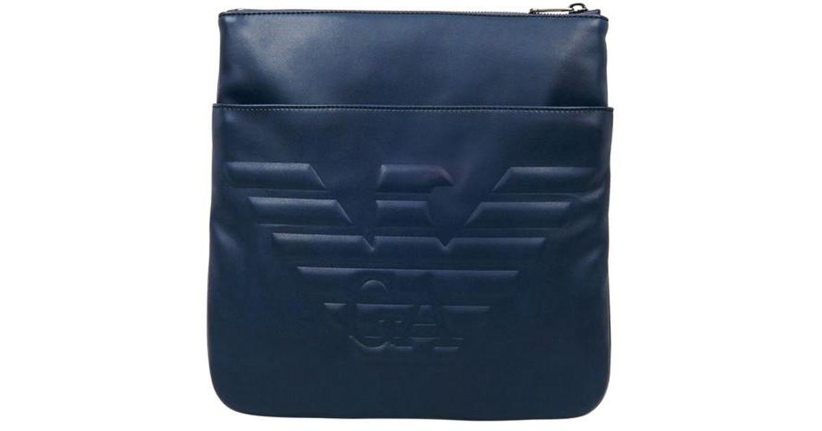 cf23969ee8be4 Lyst - Sacoche Big Eagle Emporio Armani pour homme en coloris Bleu