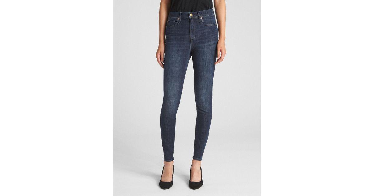 0922cca9ad Lyst - Gap High Rise True Skinny Jeans In 360 Stretch in Blue