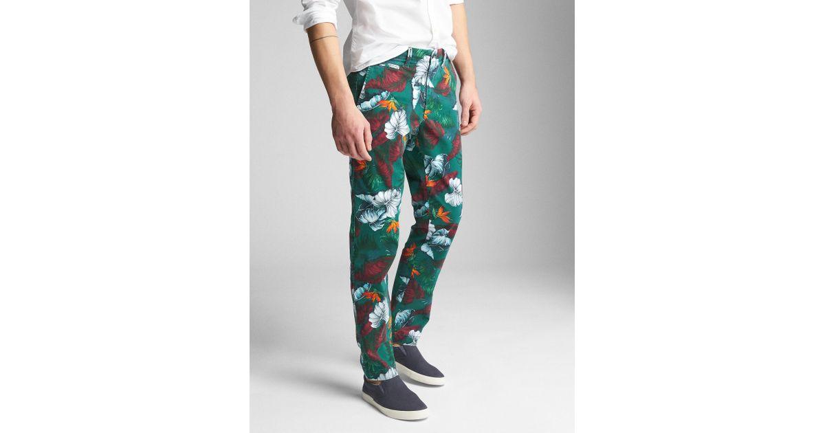 e90c9de2fad6 Lyst - Gap Color Vintage Wash Khakis In Slim Fit With Flex for Men