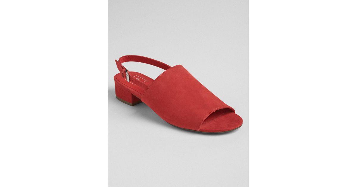 fff3b8fbc0587 Lyst - Gap Open-toe Slingback Block Heel Mules in Red