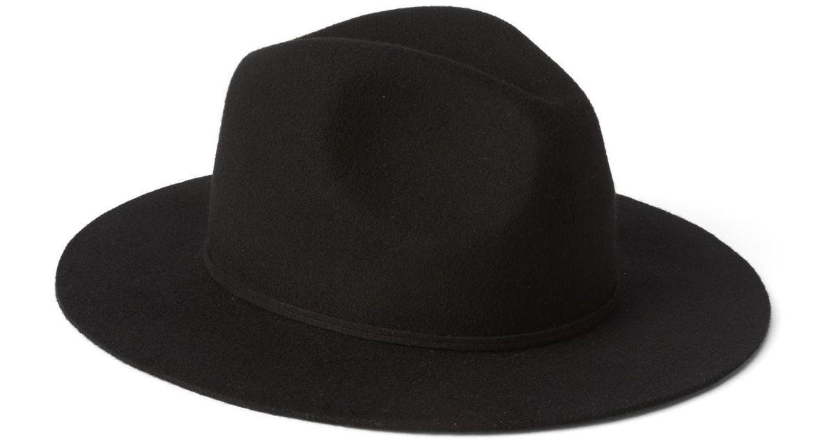 Lyst - Gap Wool Flat-brim Fedora in Black 766cfc739f1