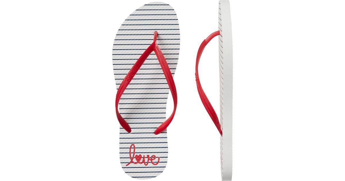 1a4037d5226e Lyst - GAP Factory Print Flip Flops in Red for Men