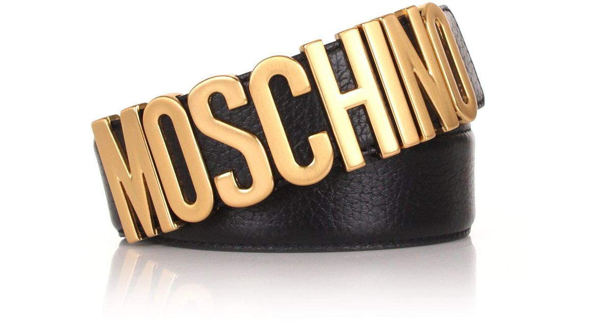 6e3e698446 Moschino Men's Classic Belt Black in Black for Men - Lyst