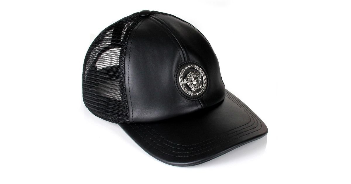 Lyst - Versace Medusa Trucker Cap Black in for Men