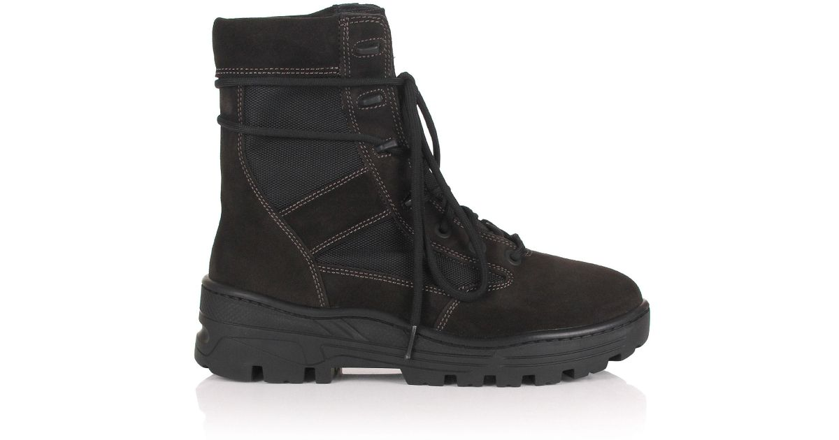 48ab875c63351 Lyst - Yeezy Season 4 Combat Boots Oil in Black for Men